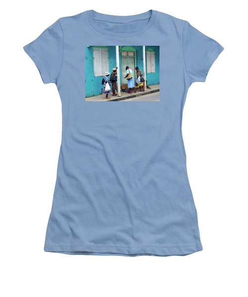 Women's T-Shirt (Junior Cut) featuring the photograph Caribbean Blue, Speightstown, Barbados by Kurt Van Wagner