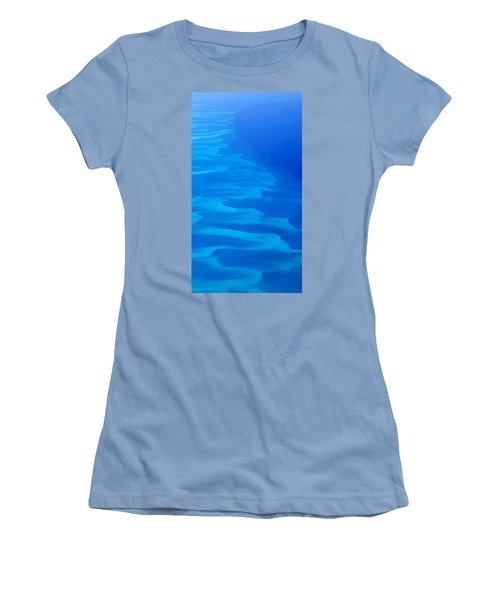 Women's T-Shirt (Junior Cut) featuring the photograph Caribbean Ocean Mosaic  by Jetson Nguyen