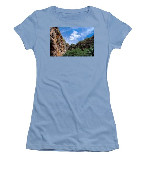Women's T-Shirt (Junior Cut) featuring the photograph Carlsbad Caverns by Gina Savage