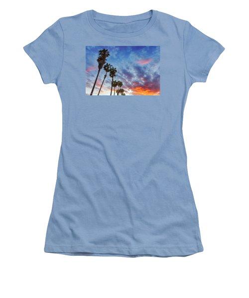 Women's T-Shirt (Junior Cut) featuring the photograph Casitas Palms by John A Rodriguez