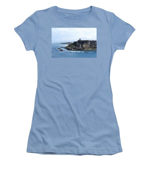 Women's T-Shirt (Junior Cut) featuring the photograph Castillo San Felipe Del Morro by Lois Lepisto
