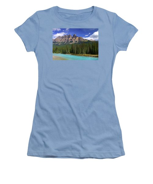 Castle Mountain Banff The Canadian Rockies Women's T-Shirt (Athletic Fit)
