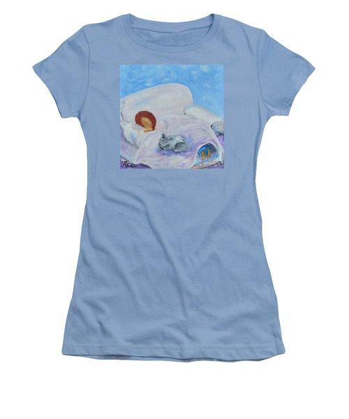Cat Nap  Women's T-Shirt (Athletic Fit)