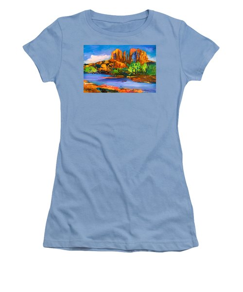 Cathedral Rock Afternoon Women's T-Shirt (Athletic Fit)