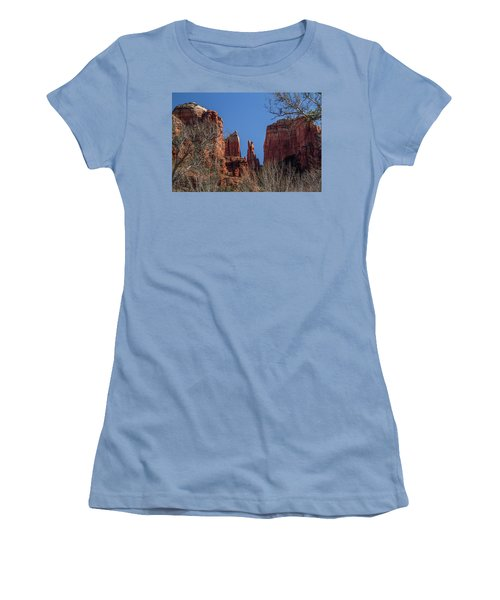 Cathedral Rock View Women's T-Shirt (Junior Cut) by Roger Mullenhour