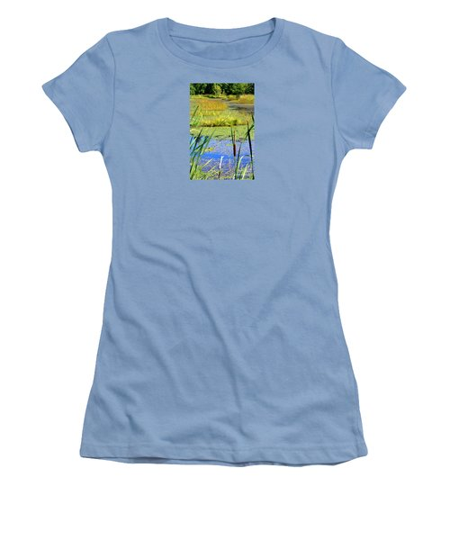 Cattail Women's T-Shirt (Junior Cut) by Chris Anderson