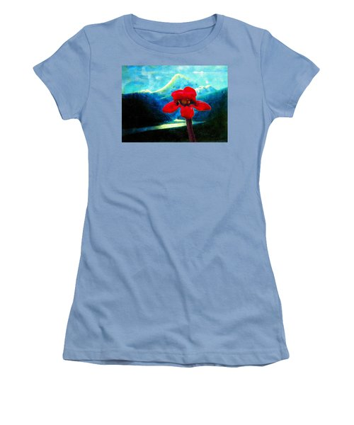 Caucasus Love Flower I Women's T-Shirt (Athletic Fit)