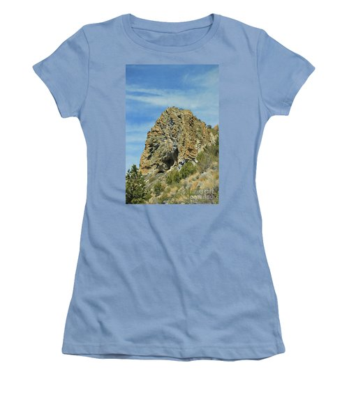Women's T-Shirt (Junior Cut) featuring the photograph Cave Rock At Tahoe by Benanne Stiens