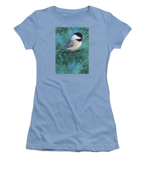Cedar Chickadee 1 Women's T-Shirt (Athletic Fit)