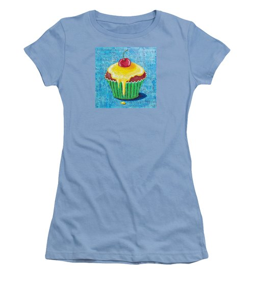 Women's T-Shirt (Junior Cut) featuring the painting Celebration by Susan DeLain