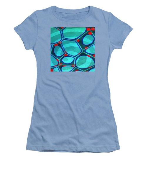 Cell Abstract 6a Women's T-Shirt (Junior Cut) by Edward Fielding