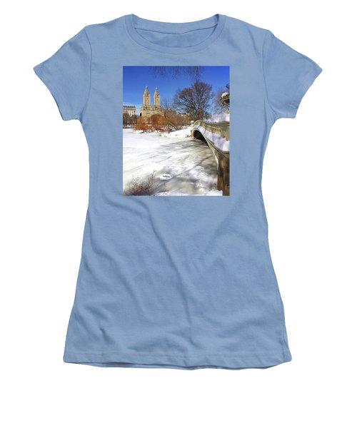 Central Park Winter Women's T-Shirt (Athletic Fit)