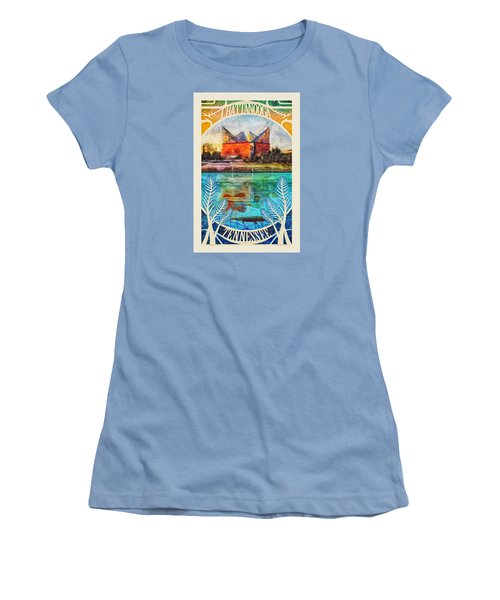 Chattanooga Aquarium Poster Women's T-Shirt (Athletic Fit)