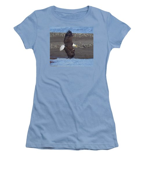 Women's T-Shirt (Junior Cut) featuring the photograph Checking Out The River by Elvira Butler