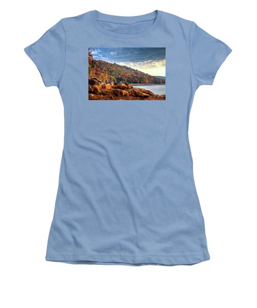 Women's T-Shirt (Junior Cut) featuring the photograph Cherokee Lake Color II by Douglas Stucky