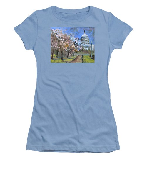 Cherry Tree Blossoms In Washington Dc Women's T-Shirt (Athletic Fit)
