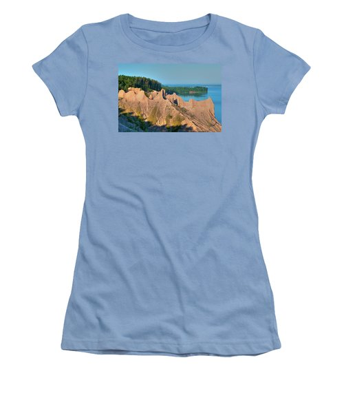 Chimney Bluffs 1750 Women's T-Shirt (Athletic Fit)