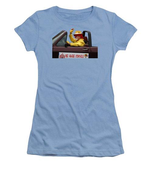 Christmas Parade Clown In Car Women's T-Shirt (Junior Cut) by EricaMaxine Price