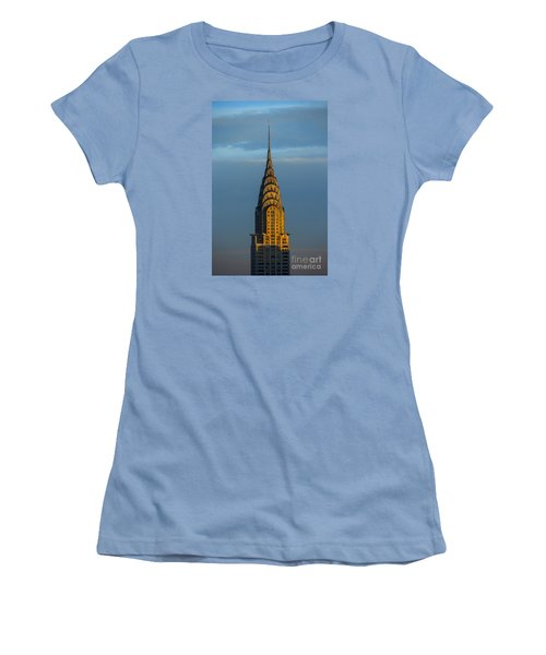Chrysler Building In The Evening Light Women's T-Shirt (Athletic Fit)