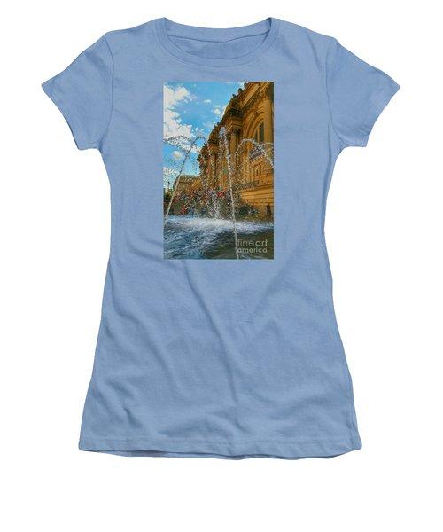 Women's T-Shirt (Junior Cut) featuring the photograph City Fountain  by Raymond Earley