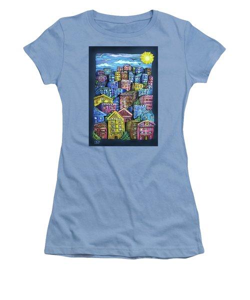 Cityscape Sculpture Women's T-Shirt (Athletic Fit)