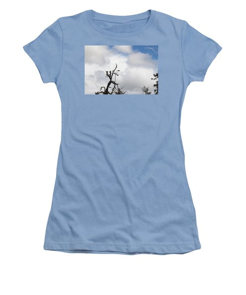 Women's T-Shirt (Junior Cut) featuring the photograph Close Call by Marie Neder