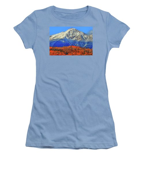 Women's T-Shirt (Junior Cut) featuring the photograph Closing In On Fall by Scott Mahon