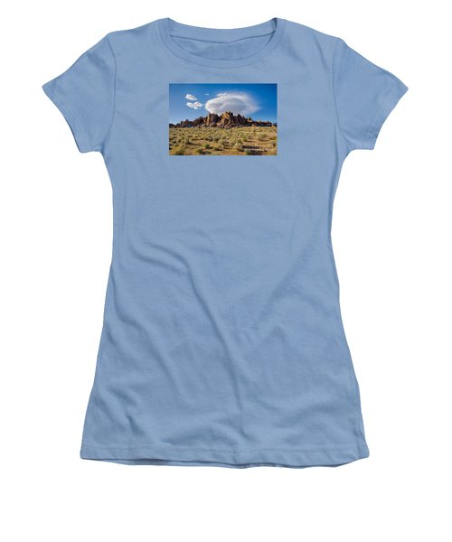 Cloud And Rocks Women's T-Shirt (Athletic Fit)