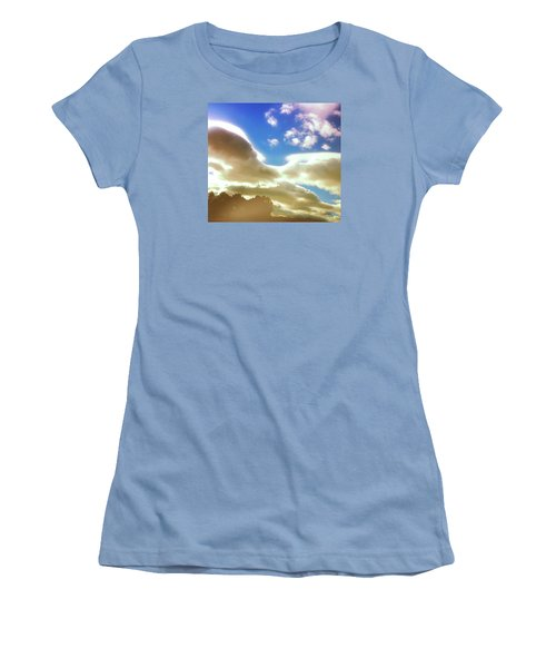 Women's T-Shirt (Junior Cut) featuring the photograph Cloud Drama Over Sangre De Cristos by Anastasia Savage Ealy