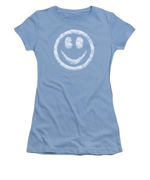 Cloud Smiley Women's T-Shirt (Junior Cut) by Matt Malloy