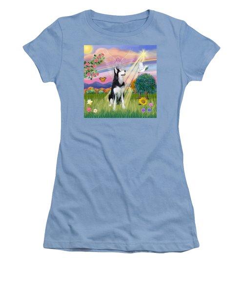 Cloudangel #1 - Siberian Husky Women's T-Shirt (Athletic Fit)