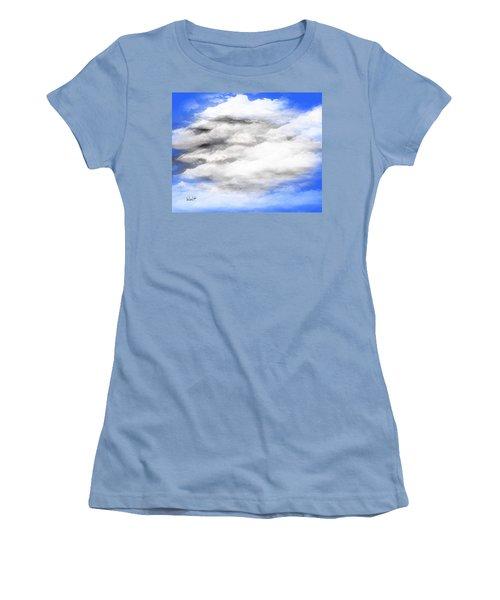 Women's T-Shirt (Junior Cut) featuring the digital art Clouds 2 by Walter Chamberlain
