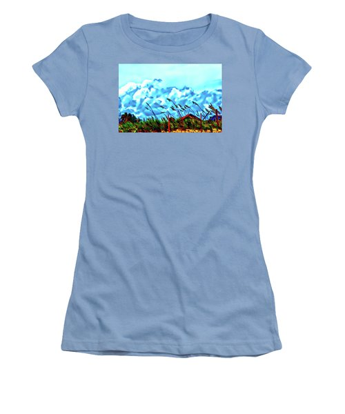 Clouds Over Vilano Beach Women's T-Shirt (Athletic Fit)