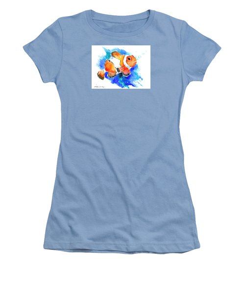 Clownfish Women's T-Shirt (Junior Cut) by Suren Nersisyan
