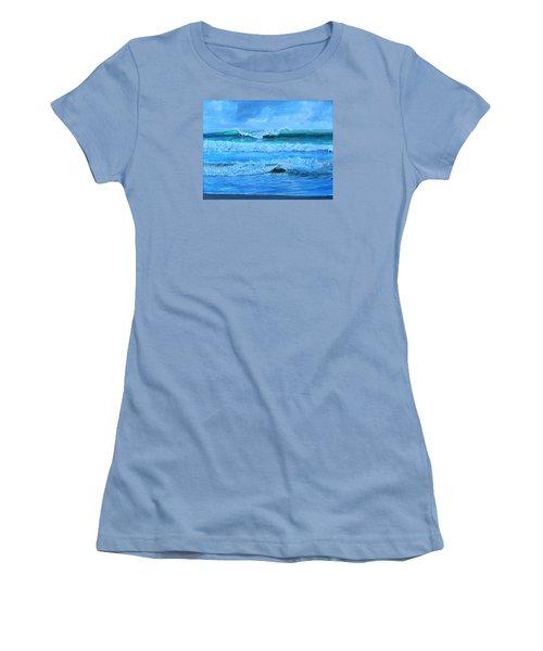 Cocoa Beach Surf Women's T-Shirt (Junior Cut) by AnnaJo Vahle