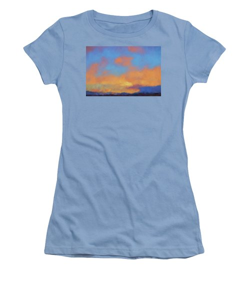Color Abstraction Lvii Women's T-Shirt (Junior Cut) by David Gordon