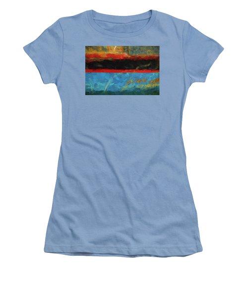 Color Abstraction Xxxix Women's T-Shirt (Junior Cut) by David Gordon