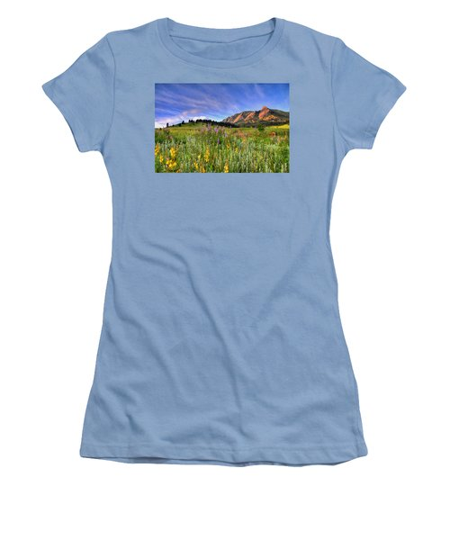 Colorado Wildflowers Women's T-Shirt (Athletic Fit)