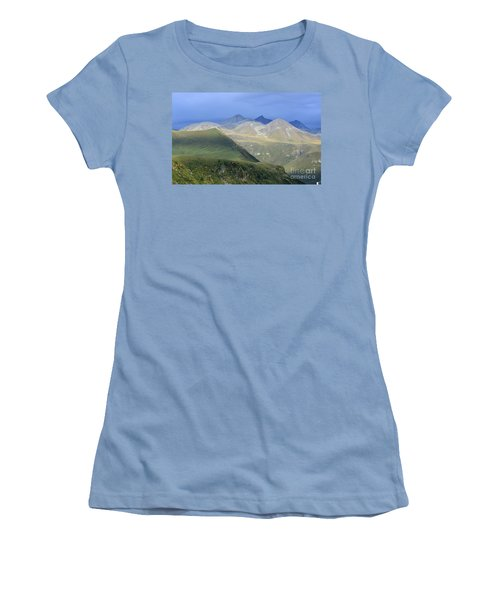Women's T-Shirt (Junior Cut) featuring the photograph Colored Peaks Of The Caucasus by Arik Baltinester