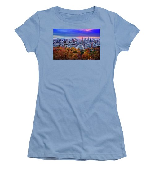 Women's T-Shirt (Junior Cut) featuring the photograph Colorful Montreal  by Mircea Costina Photography