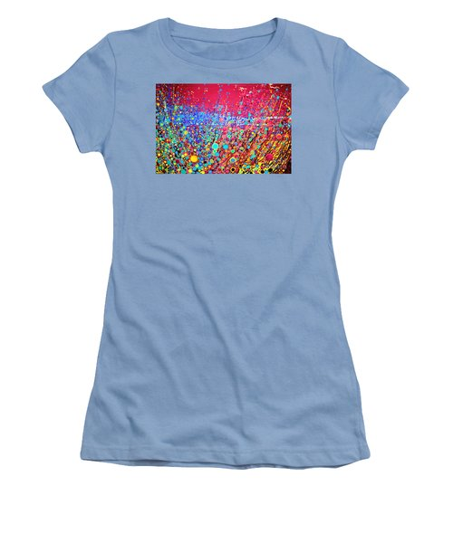 Women's T-Shirt (Junior Cut) featuring the digital art Colorful Spring by Maja Sokolowska
