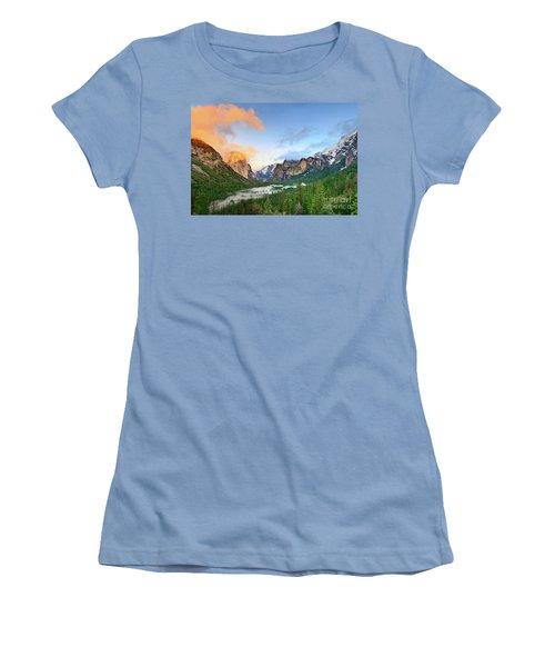 Colors Of Yosemite Women's T-Shirt (Athletic Fit)