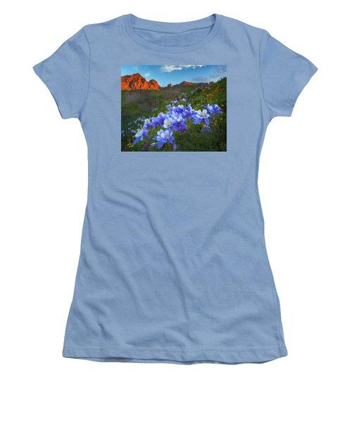 Columbine Sunrise Women's T-Shirt (Athletic Fit)