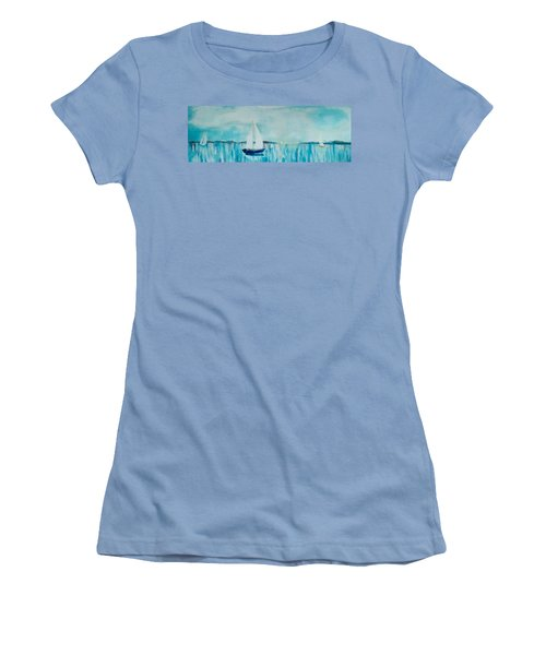 Women's T-Shirt (Junior Cut) featuring the painting Come Sail Away by Gary Smith