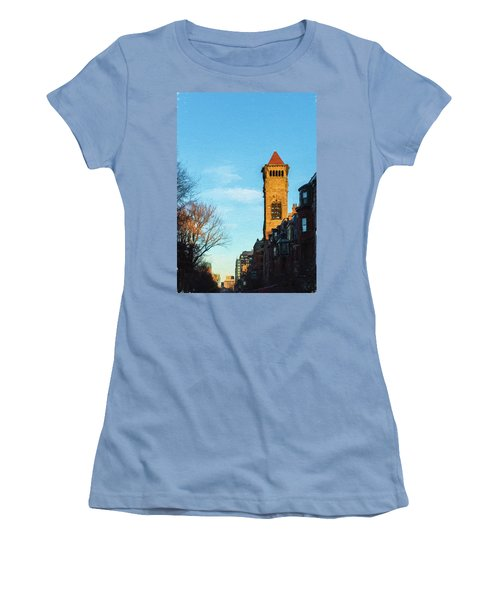 Commonwealth Avenue In Boston Women's T-Shirt (Athletic Fit)
