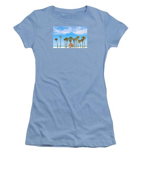 Women's T-Shirt (Junior Cut) featuring the photograph Coquina Beach Anna Maria Island by Margie Amberge