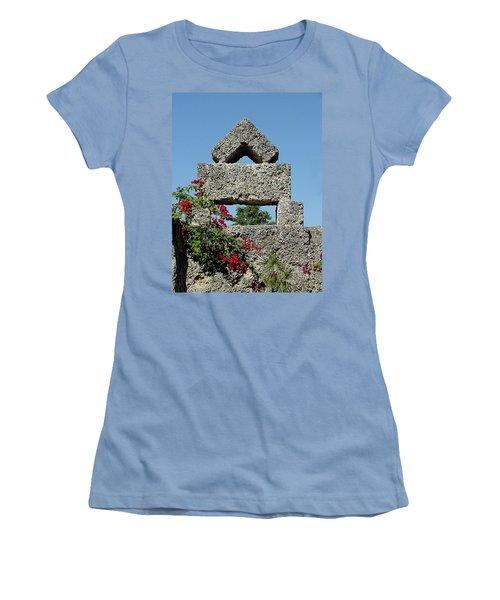 Coral Castle For Love Women's T-Shirt (Athletic Fit)