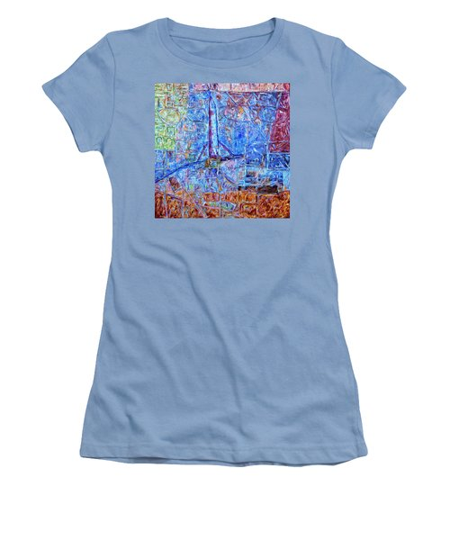 Women's T-Shirt (Junior Cut) featuring the painting Cosmodrome by Dominic Piperata
