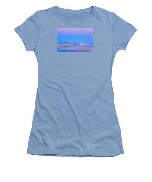 Cotton Candy Sunset Women's T-Shirt (Junior Cut) by Joni Eskridge