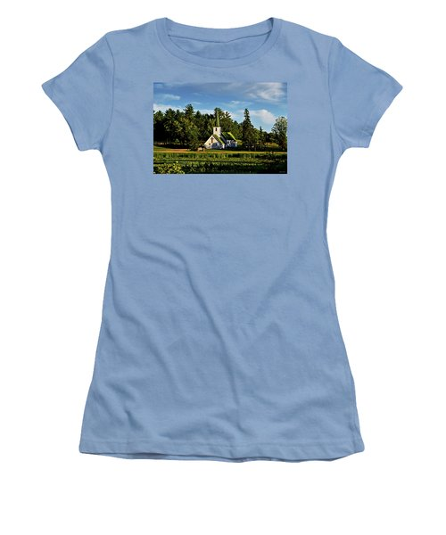 Country Church 003 Women's T-Shirt (Junior Cut) by George Bostian